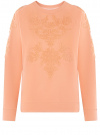 Свитшот с вышивкой из ткани букле oodji #SECTION_NAME# (розовый), 14807041-1/47999/4354P
