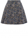 Юбка расклешенная со встречными складками oodji #SECTION_NAME# (синий), 11600396-2/45559/7533E