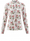 Блузка вискозная А-образного силуэта oodji #SECTION_NAME# (белый), 21411113B/26346/3041F