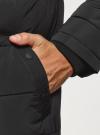 Куртка утепленная с капюшоном oodji #SECTION_NAME# (черный), 1B112006M-1/39877N/2900N - вид 5
