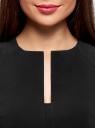 Платье-футляр с декоративным вырезом oodji для женщины (черный), 21912002/42250/2900N