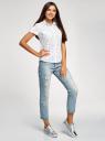 Рубашка хлопковая с нагрудными карманами oodji для женщины (белый), 11402084-3B/12836/1029Q