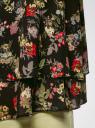 Топ двуслойный из струящейся ткани oodji #SECTION_NAME# (черный), 11411162/46796/2919F - вид 5