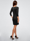 Платье облегающего силуэта на молнии oodji #SECTION_NAME# (черный), 14001105-6B/46944/2900N - вид 3