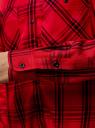 Рубашка клетчатая из вискозы oodji #SECTION_NAME# (красный), 13L11007/47701/4529C - вид 5