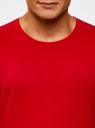 Футболка базовая oodji #SECTION_NAME# (красный), 5B621002M/44135N/4500N - вид 4