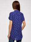 Блузка из вискозы с нагрудными карманами oodji #SECTION_NAME# (синий), 11400391-4B/24681/7512O - вид 3