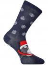 Комплект из трех пар хлопковых носков oodji для женщины (разноцветный), 57102902-4T3/10231/9 - вид 3