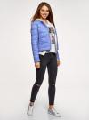 Куртка стеганая с круглым вырезом oodji для женщины (синий), 10203050-2B/47020/7502N - вид 6