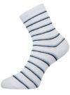 Носки базовые хлопковые oodji #SECTION_NAME# (белый), 57102466B/47469/1079S - вид 2