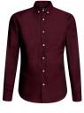 Рубашка приталенная с длинным рукавом oodji #SECTION_NAME# (красный), 3B110011M/34714N/4900N