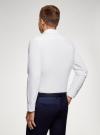 Рубашка из фактурной ткани oodji #SECTION_NAME# (белый), 3B310007M/49257N/1000O - вид 3