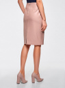 Юбка-карандаш из искусственной кожи oodji для женщины (розовый), 28H01002B/45059/4A01N