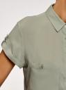 Блузка из вискозы с нагрудными карманами oodji #SECTION_NAME# (зеленый), 11400391-5B/48756/6000N - вид 5