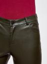 Брюки slim из искусственной кожи oodji для женщины (зеленый), 18G07087/45059/6900N
