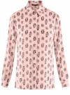 Блузка вискозная прямого силуэта oodji #SECTION_NAME# (розовый), 11411098-3/24681/4029O
