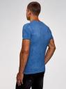 Футболка хлопковая с принтом oodji для мужчины (синий), 5L611375M/39485N/7575P