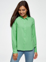 Блузка базовая из вискозы oodji #SECTION_NAME# (зеленый), 11411136B/26346/6500N - вид 2