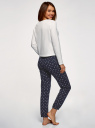Пижама хлопковая с брюками oodji для женщины (белый), 56002222/46158/1279P
