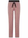 Брюки вискозные на завязках oodji для женщины (розовый), 13F10002/49181/4012G