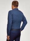 Рубашка хлопковая в мелкую графику oodji #SECTION_NAME# (синий), 3L110379M/49716N/7975G - вид 3