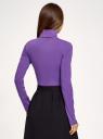 Водолазка хлопковая oodji для женщины (фиолетовый), 15E02001B/46147/8301N