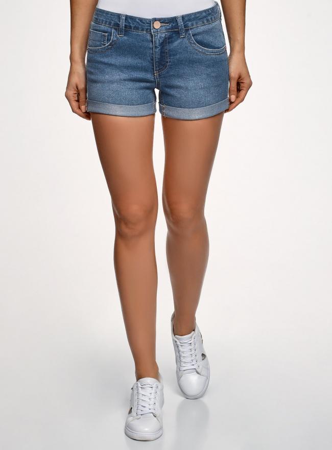 Шорты джинсовые базовые oodji #SECTION_NAME# (синий), 12807025-3B/46253/7500W