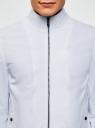 Ветровка на молнии с воротником-стойкой oodji #SECTION_NAME# (белый), 1L514013M/48148N/1000N - вид 4