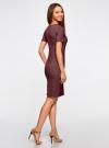 Платье в рубчик oodji #SECTION_NAME# (красный), 14011031/47349/4923N - вид 3