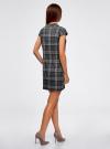 Платье клетчатое с карманами и воротником-хомутом oodji для женщины (серый), 11910058-2/37812/2520C - вид 3