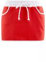 Юбка трикотажная на эластичном поясе oodji #SECTION_NAME# (красный), 14101098B/46155/4510B