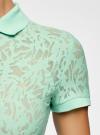 Поло из фактурной ткани с вышивкой oodji для женщины (зеленый), 19301006/46656/6500O - вид 5
