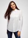 Блузка прямого силуэта с нагрудным карманом oodji #SECTION_NAME# (белый), 11411134-1B/48853/1200N - вид 2