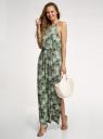 Платье макси из вискозы oodji для женщины (зеленый), 14006069/49253/6260O
