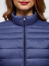 Куртка с трикотажными манжетами и воротником-стойкой oodji #SECTION_NAME# (синий), 10204056/47172/7800N - вид 4