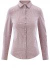 Блузка приталенная в горошек oodji #SECTION_NAME# (фиолетовый), 11403227/46079/1049G