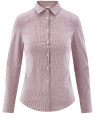 Блузка приталенная в горошек oodji для женщины (фиолетовый), 11403227/46079/1049G