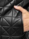 Куртка-бомбер из искусственной кожи oodji для мужчины (черный), 1L511044M/44375N/2900N - вид 5