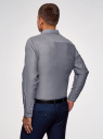 Рубашка хлопковая приталенная oodji #SECTION_NAME# (серый), 3B110007M/34714N/7500O - вид 3