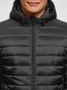 Куртка стеганая с капюшоном oodji #SECTION_NAME# (черный), 1B112009M/25278N/2900N - вид 4