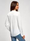 Блузка принтованная из вискозы с воротником-стойкой oodji #SECTION_NAME# (белый), 21411063-1/26346/1200N - вид 3
