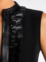 Платье комбинированное с юбкой из искусственной кожи oodji #SECTION_NAME# (черный), 11902141/42442/2900N - вид 5