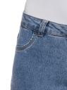 Джинсы slim базовые oodji для женщины (синий), 12104060B/45468/7000W