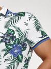 Рубашка принтованная с коротким рукавом oodji #SECTION_NAME# (белый), 5L301004M/46547N/1079F - вид 5