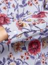 Блузка вискозная А-образного силуэта oodji #SECTION_NAME# (синий), 21411113B/26346/7045F - вид 5