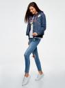 Куртка джинсовая со значками oodji #SECTION_NAME# (синий), 11109031/46654/7900W - вид 6