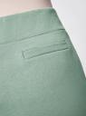Брюки трикотажные спортивные oodji для женщины (зеленый), 16701010B/46980/6200N