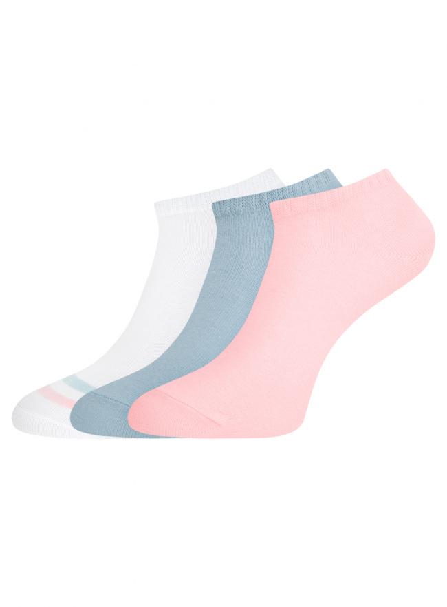 Комплект из трех пар укороченных носков oodji для женщины (разноцветный), 57102433T3/47469/96