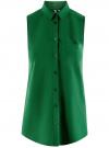 Топ вискозный с нагрудным карманом oodji #SECTION_NAME# (зеленый), 11411108B/26346/6E00N