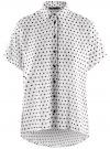 Блузка вискозная свободного силуэта oodji #SECTION_NAME# (белый), 11405139/24681/1229D